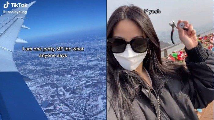 Putus dengan Sang Pacar, TikToker Ini Rela Terbang ke Korea untuk Lepas Gembok Cinta di Namsan Tower