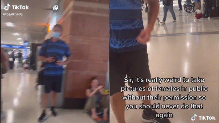 Wanita Ini Berani Hadapi Kelakuan Buruk Pria Asing di Bandara, Tonton Videonya