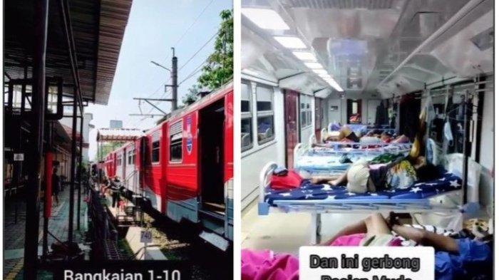 Video Viral, Gerbong Kereta Api di Madiun Dipakai untuk Isolasi Mandiri Pasien Covid-19