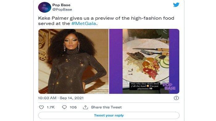 Viral Keke Palmer Keluhkan Makanan di Met Gala, Koki Acara Beri Penjelasan