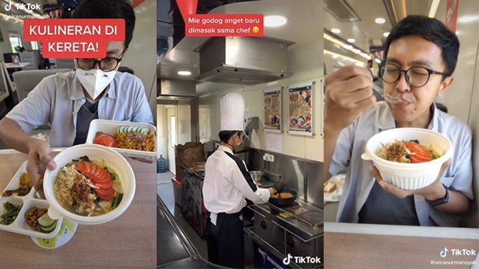 Viral Penumpang Pesan Berbagai Makanan di Kereta Api, Mi Godog Jawa Dimasak 'Live' oleh Koki
