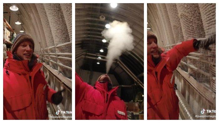Viral Video Pria Ceritakan Rasanya Tinggal di Kutub Selatan, Bernapas Bisa jadi Kristal Es