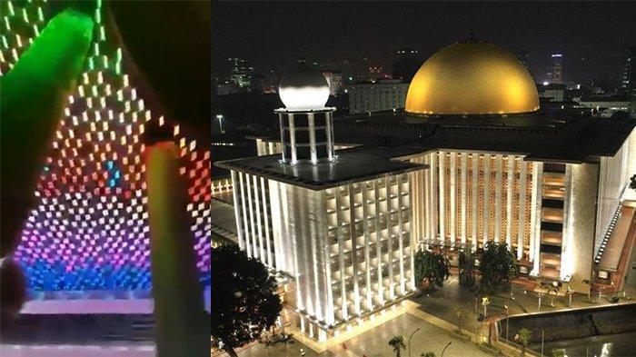 Viral Video Masjid Istiqlal Dihiasi Lampu Warna-warni, Ini Kata Pihak Masjid