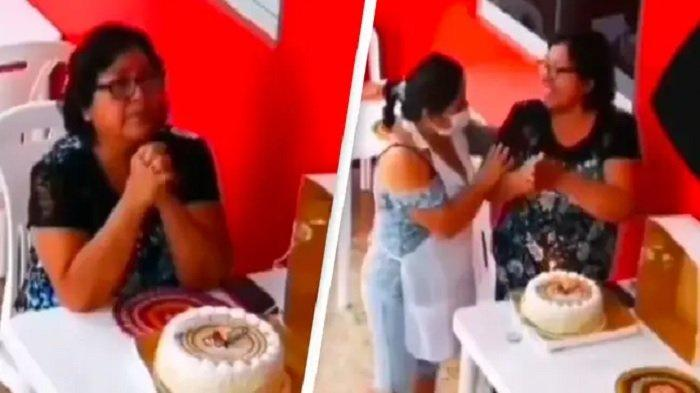 Viral Video Wanita Merayakan Ulang Tahun Sendirian di Restoran, Aksi Staf Bikin Warganet Terharu