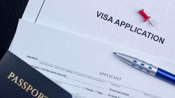 ILUSTRASI pembuatan visa.