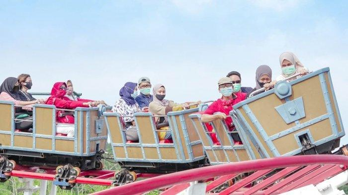 Wahana Kumbang Layang di Saloka Theme Park