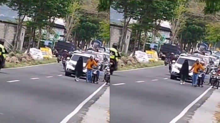 Viral Video Wanita Berjalan Santai di Tengah Jalan, Sebabkan Kemacetan Menuju Telaga Sarangan