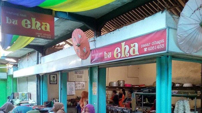 Warung Nasi Bu Eha, kuliner legendaris di Bandung yang sempat jadi langganan istri Bung Karno.