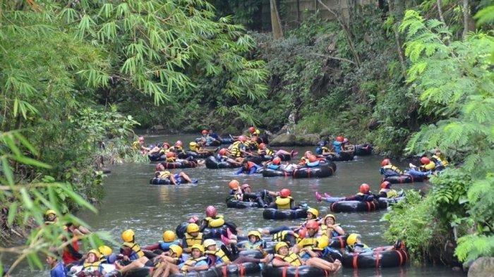 Sensasi River Tubing di Watu Kapu Klaten, Menyusuri Sungai Pusur Sejauh Lebih dari 1 Km