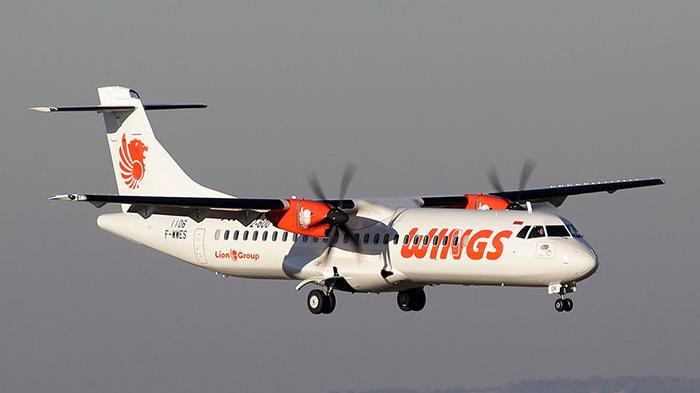 Ilustrasi Pesawat ATR Wings Air