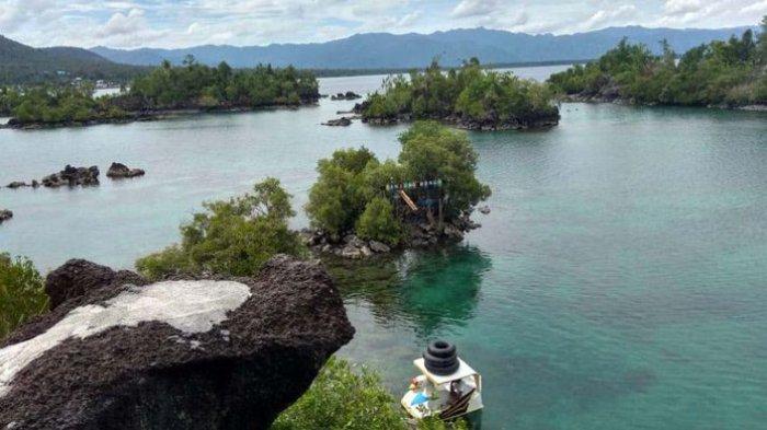 Wisata Alam Tanjung Bongo Destinasi Di Halmahera Utara Yang Disebut Sebut Miniatur Raja Ampat Tribun Travel