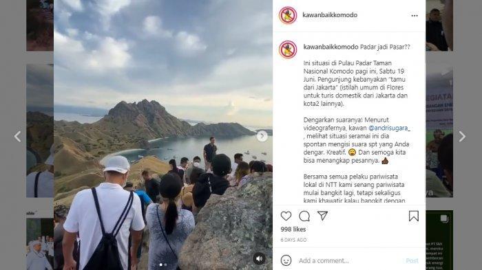 Viral Video Pulau Padar NTT Dipadati Wisatawan, Berkerumun dan Abaikan Prokes