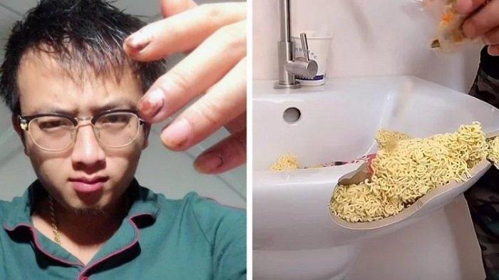 Xiubandrng DIY memperbaiki wastafel dengan mi