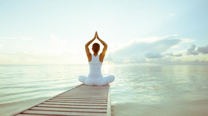 Ilustrasi olahraga yoga