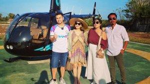 Liburan Artis - 5 Potret Liburan Nagita Slavina ke Bali, Raffi Ahmad Jajal Keliling Naik Helikopter