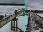 Jembatan di Rusia Ini Siap Bikin Jantung Berdebar! Lebarnya Mepet dan Kondisinya Ngeri Banget