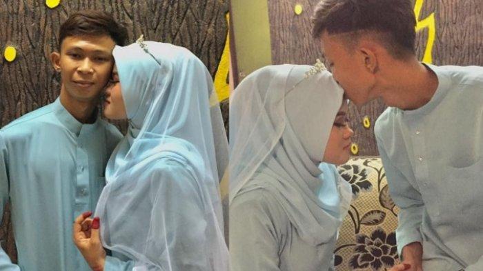Akma mengunggah potret pernikahannya