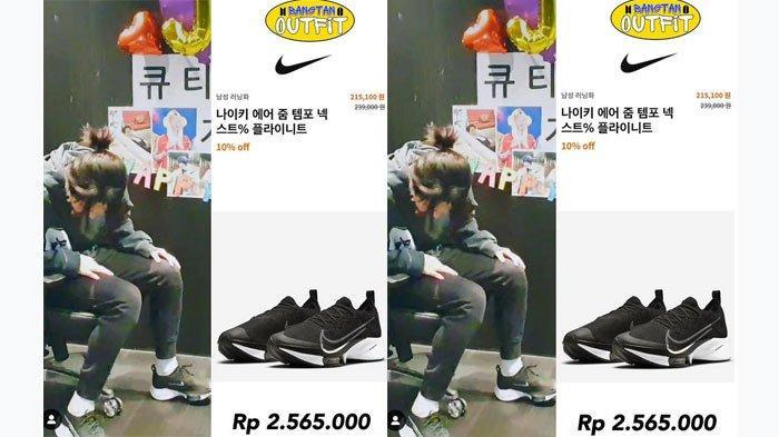Sepatu Jimin BTS saat Live Ulang Tahun 'Cuma' Rp2,5 Jutaan, Diskon 10 Persen, Tertarik Kembaran?