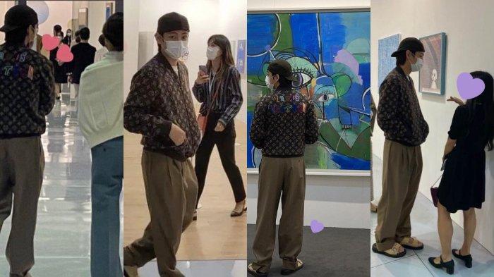 Kim Taehyung alias V BTS hadiri Korea International Art Fair 2021