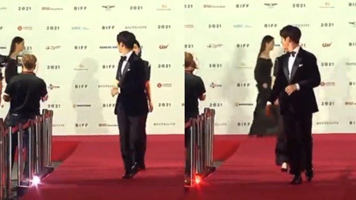 Momen saat Song Joong Ki menoleh kebelakang saat nama Jeon Yeo Bin dipanggil