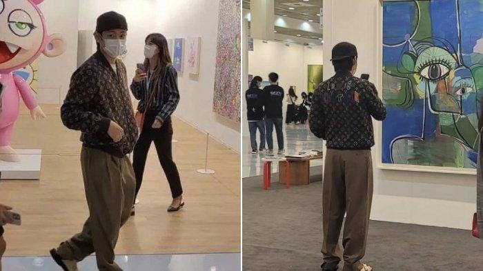 Kunjungi Korea International Art Fair 2021, V BTS Banjir Permintaan Foto: Maaf Sudah 50 Kali