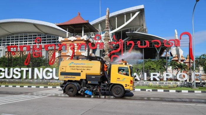 Komunitas Bandara I Gusti Ngurah Rai Gelar Desinfeksi di Lingkungan Bandara