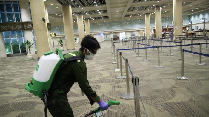 Cegah Corona, Bandara I Gusti Ngurah Rai Lakukan Desinfeksi Fasilitas Bandara