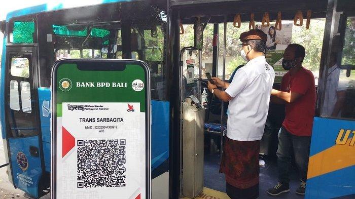 Asik! Naik Bus Trans Sarbagita Bisa Pakai QRIS Lho!