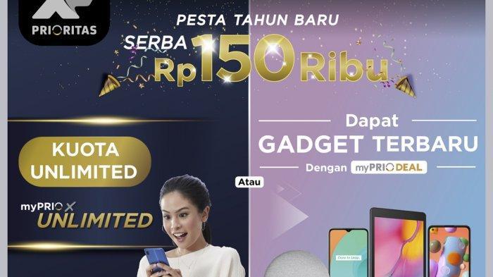 Promo Akhir Tahun XL Prioritas, Bundling Smartphone dan Paket Data Mulai Rp 150 Ribu
