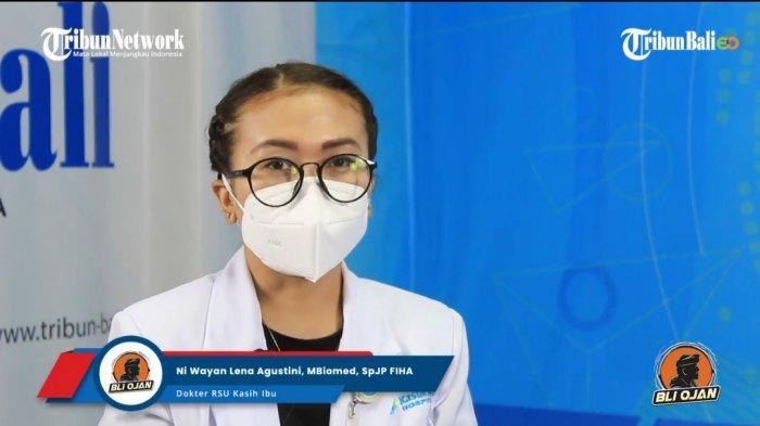 Dokter spesialis jantung dan pembuluh darah RS Kasih Ibu Denpasar, Ni Wayan Lena Agustini, SpJP FIHA dalam segmen Bli Ojan Jeg Lais 'Mitos atau Fakta, Rajin Berolahraga Jantungnya Sehat'