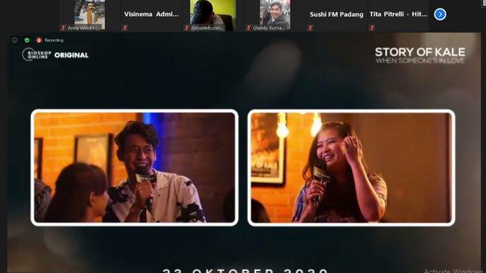 Jumpa pers virtual film Story of Kale: When Someone's in Love beberapa waktu lalu
