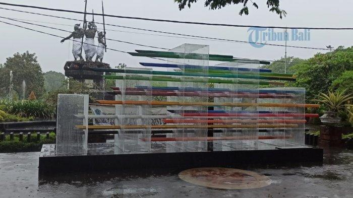 Putrayasa Tampilkan Instalasi Pandora Paradise di Nol Km Denpasar, Biaya Pembuatan Rp. 80 Juta