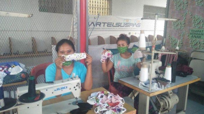 WBP Lapas Perempuan Denpasar Produksi 70 Masker Kain Tiap Harinya, Dijual Seharga Rp 3 Ribuan