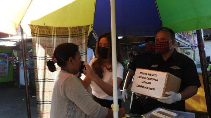 Nadia Nevita Donasikan 1000 Masker di Desa Busungbiu dan Desa Pelapuan Buleleng