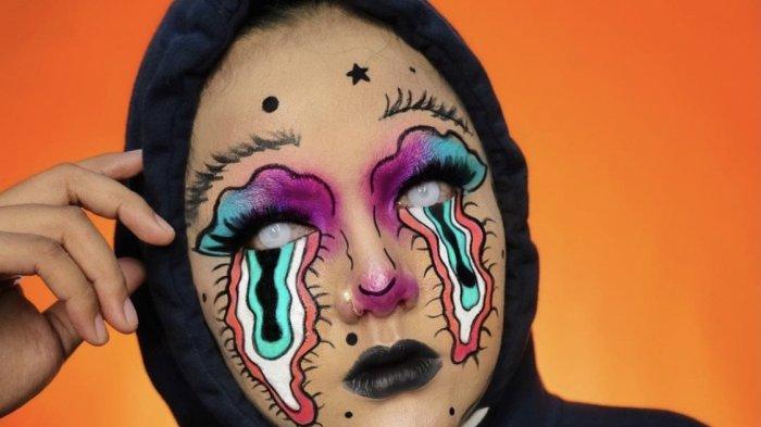 Tampil Nyentrik dengan Makeup Unik, Beauty Vlogger Asal Batam Paling Diincar Netizen Josephine