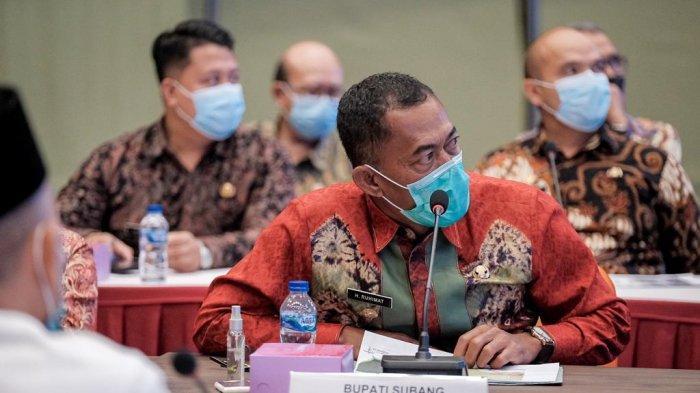 Bupati Subang, H Ruhimat saat beraudiensi di Kementerian Pariwisata dan Ekonomi Keratif di Jakarta, Rabu (20/5/2021)