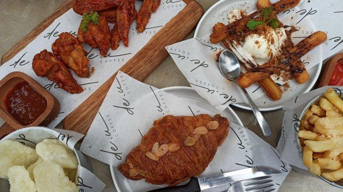 Aneka menu camilan di De.u Cofee