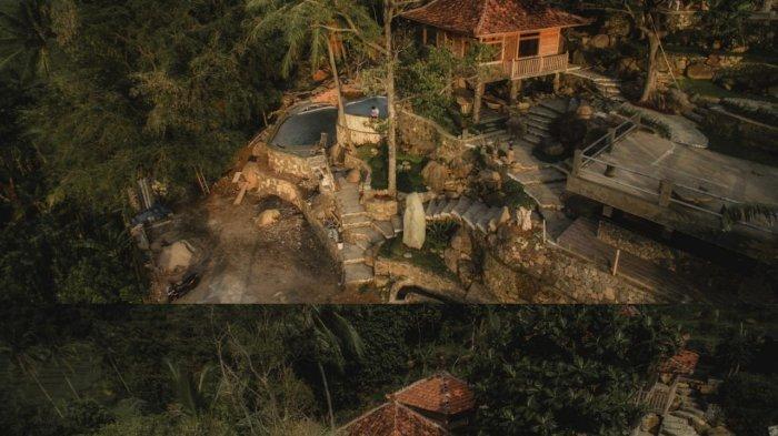 Objek wisata Ciboer Pass di Desa Bantaragung, Kecamatan Sindangwangi, Kabupaten Majalengka.