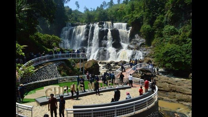 Curug Malela Nan Indah di Kabupaten Bandung Barat, Dijuluki Air Terjun Niagara Kecil
