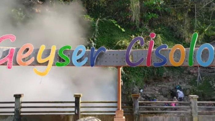 Wisata pemandian air panas Geyser Cisolok di Desa Wangunsari, Kecamatan Cisolok, Kabupaten Sukabumi,