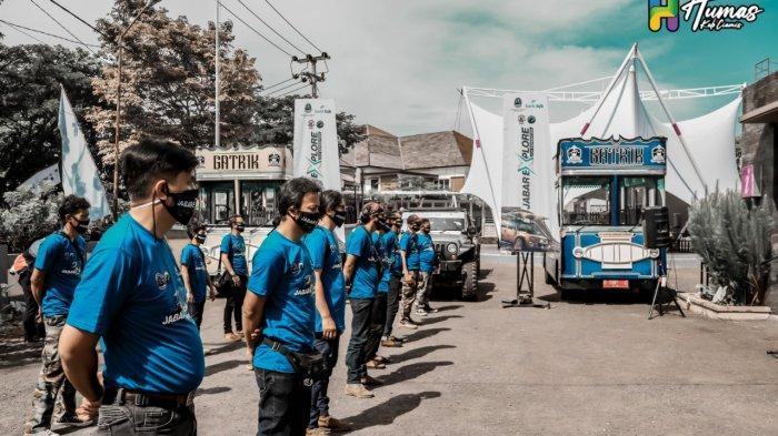 Jelajah Ciamis – Rombongan Jabar Explore dilepas Wabup Ciamis Yana D Putra di TIC Ciamis Selasa (8/12/2020)