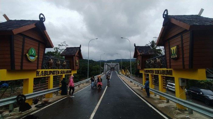 JembatanCibuni Menjadi Ikon Perbatasan Sukabumi-Cianjur, Warga Banyak Berfoto di Lokasi Jembatan