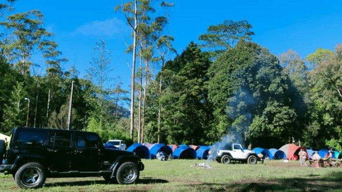 Berkemah di Kampung Cai, Rancaupas, Rancabali, Kabupaten Bandung
