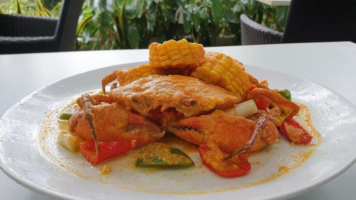 Kepiting saus padang sajian Hotel Santika Cirebon