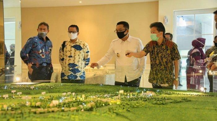 Gubernur Jabar Ridwan Kamil meninjau kawasan wisata Lido di Kecamatan Cigombong, Kabupaten Bogor, Rabu (15/7/20). Lido didorong menjadi Kawasan Ekonomi Khusus (KEK) Pariwisata pertama di Jabar.
