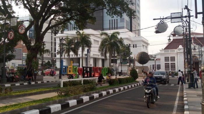 Palestine Walk di kawasan Alun-alun Kota Bandung