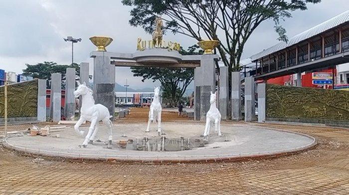 Alun-alun Taman Kota Kuningan Sedang Direhabilitasi, Akhir Tahun Ini Selesai, Wisatawan Bakal Betah