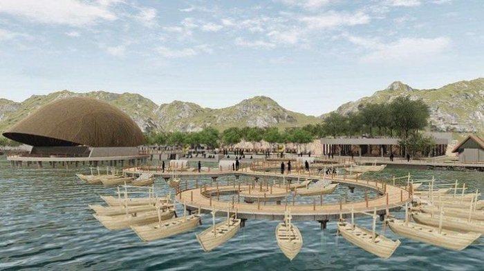 gambar rencana pengembangan Situ Bagendit Garut yang akan direalisasikan pada akhir 2021