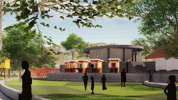 Gambar rencana pengembangan Situ Bagendit Garut. Pembangunan ekowisata Situ Bagendit akan terealisasikan pada 2021