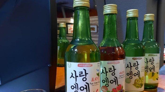 Aneka varian rasa minuman Sarangenge yang mengandung nol persen alkohol.